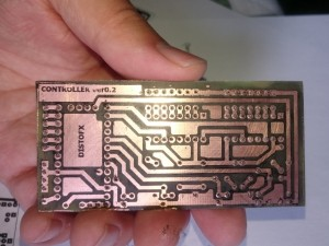 The finished PCB